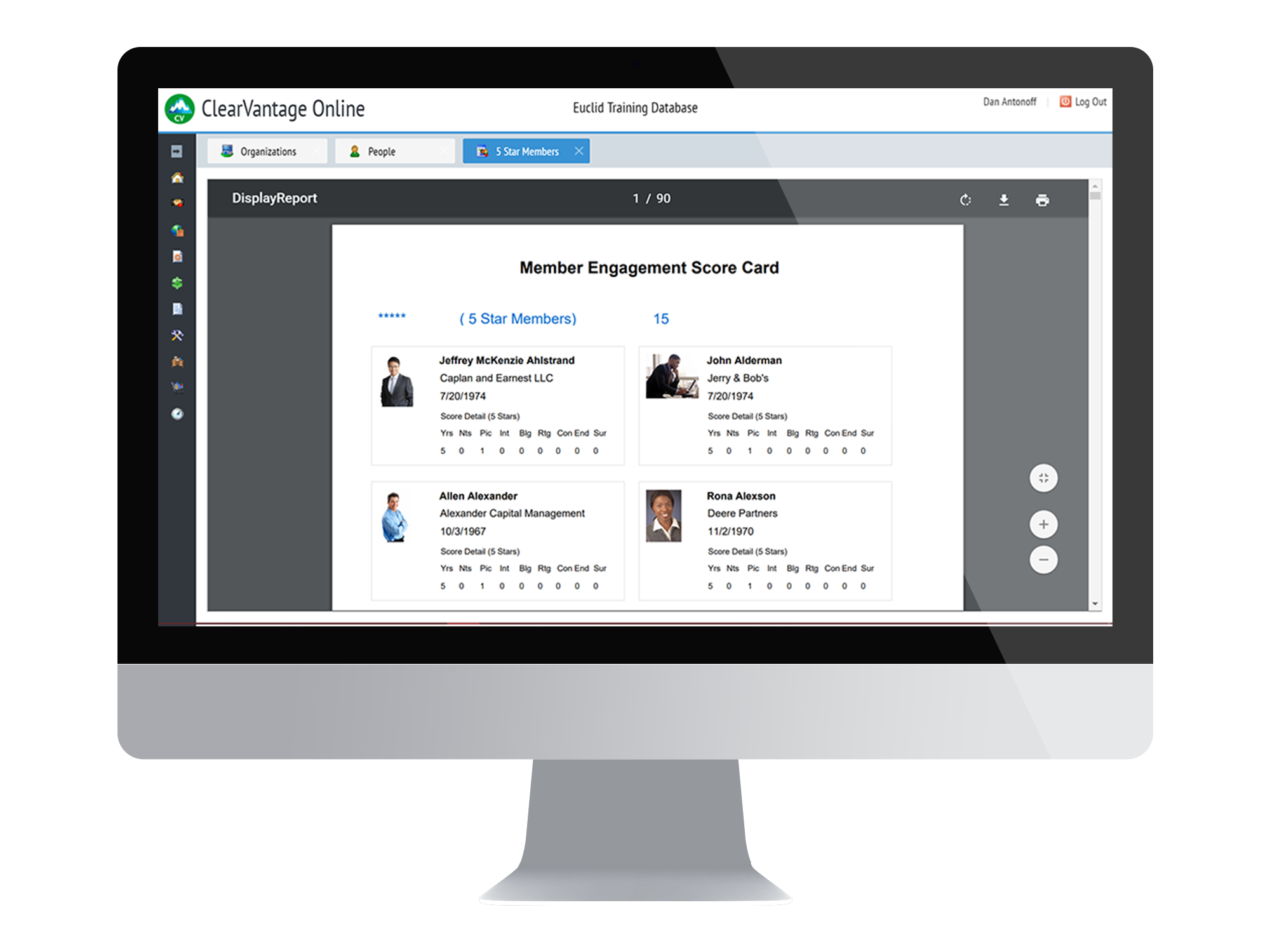 ClearVantage Member Relationship Management Screenshot